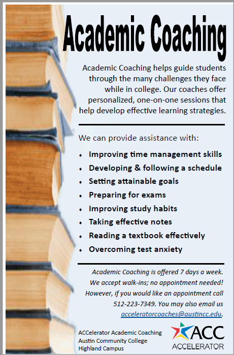 Academic Coaching handout