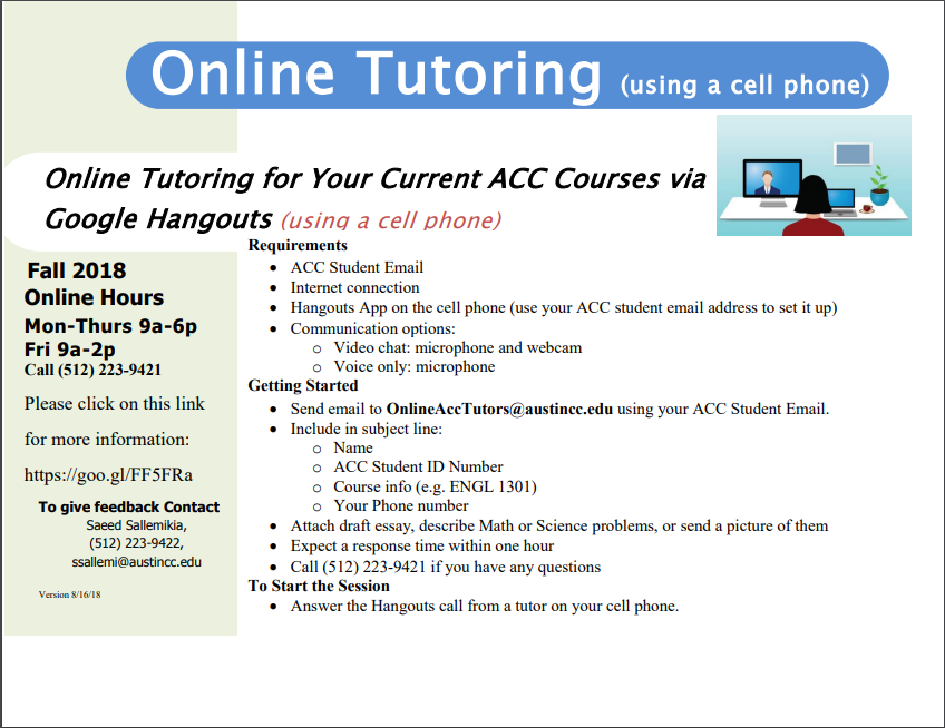 Online Tutoring using your cell phone