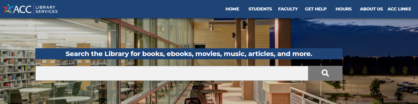 Austin Community College Library Services home page