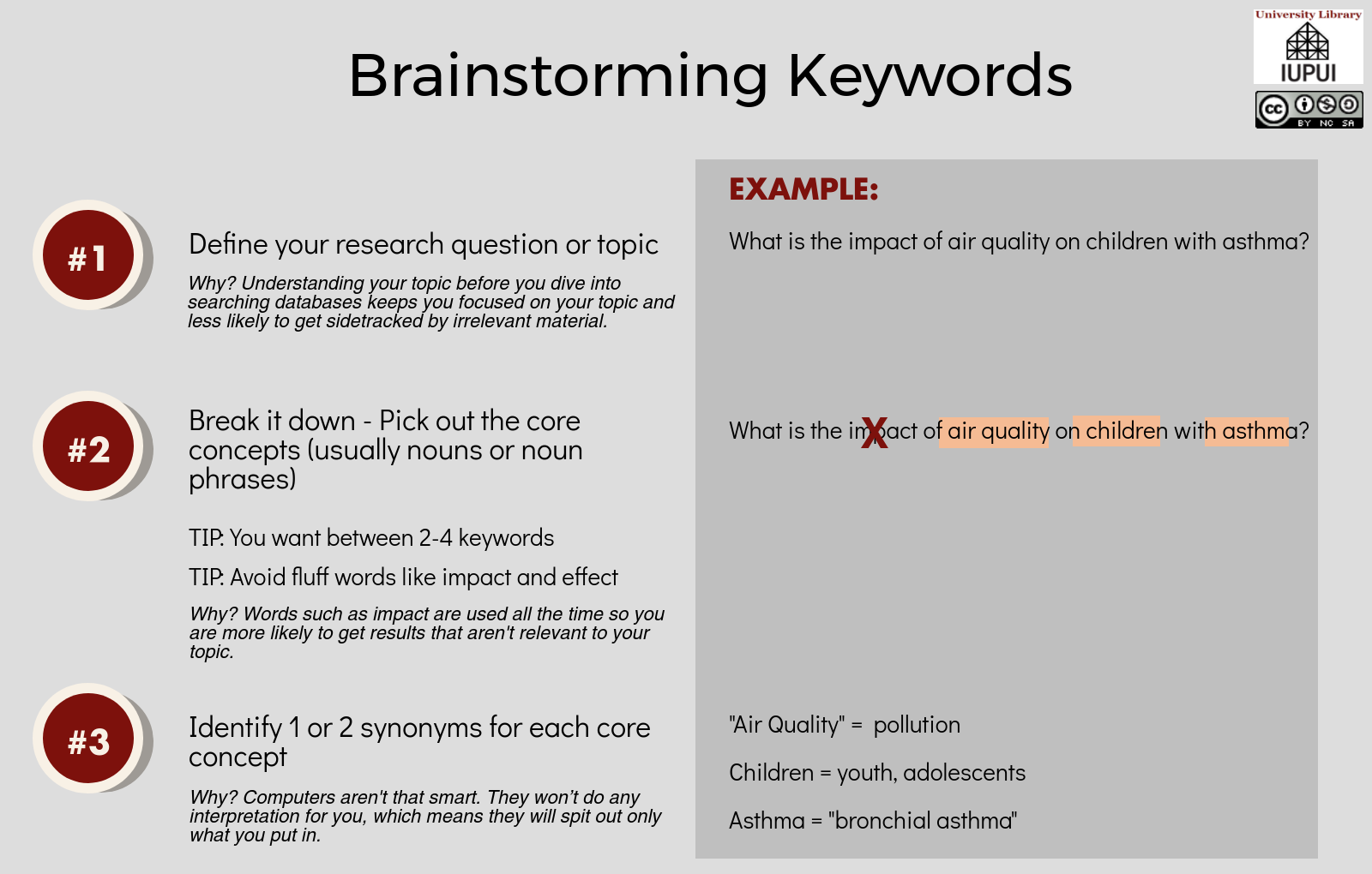 Brainstorming Keywords