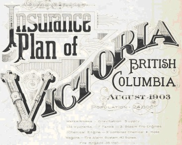Insurance Plan of Victoria BC 1903