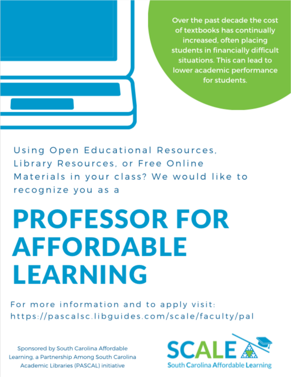 Professor for Affordable Learning Flyer