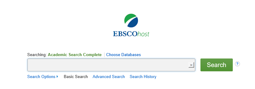 Academic Search Complete search box