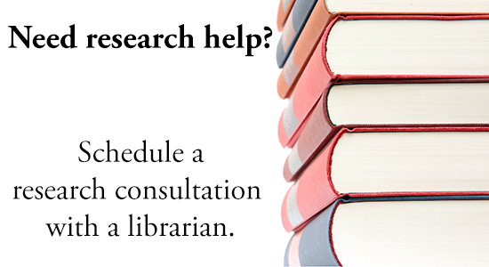 need research help? schedule a research consultation with a librarian
