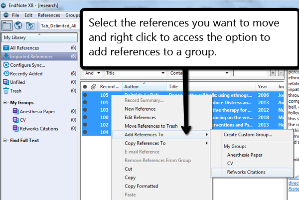 right click to find add reference option