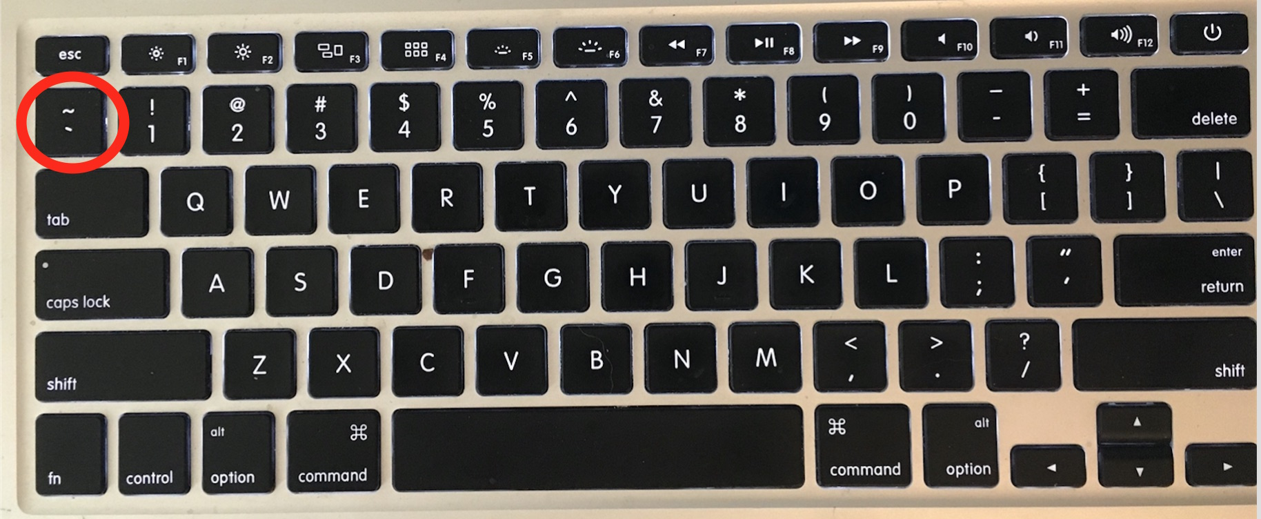 accent grave on keyboard