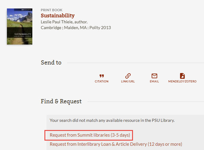Image of Summit libraries book request