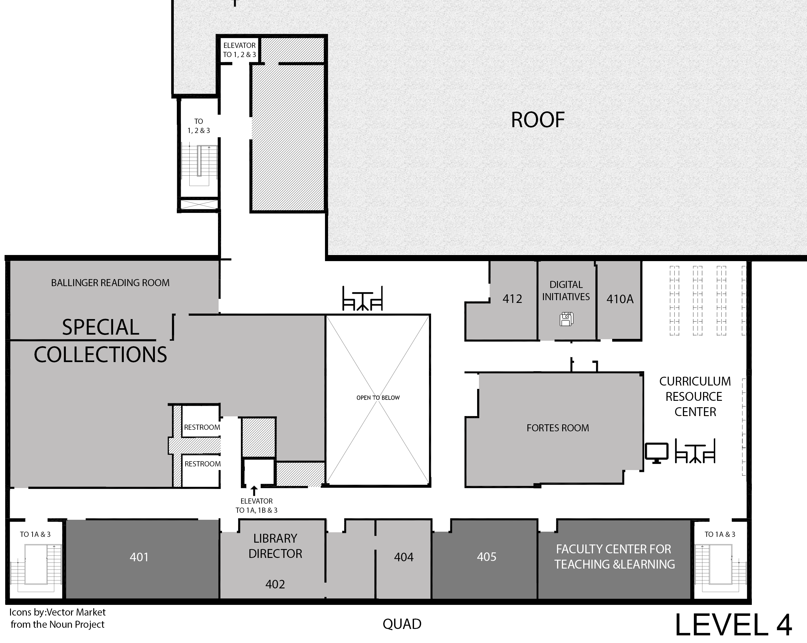 Level 4 floor map