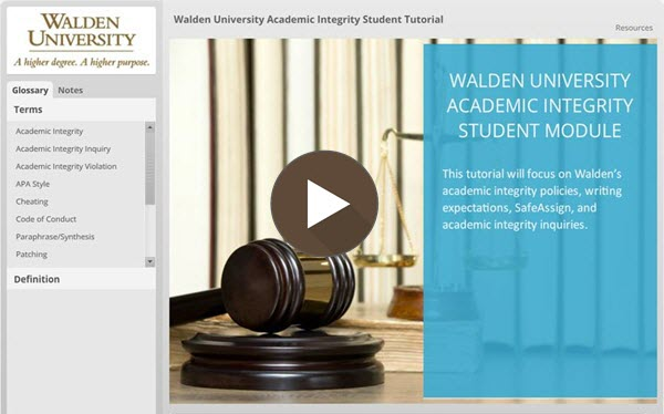 Tutorial: Academic Integrity Student Module
