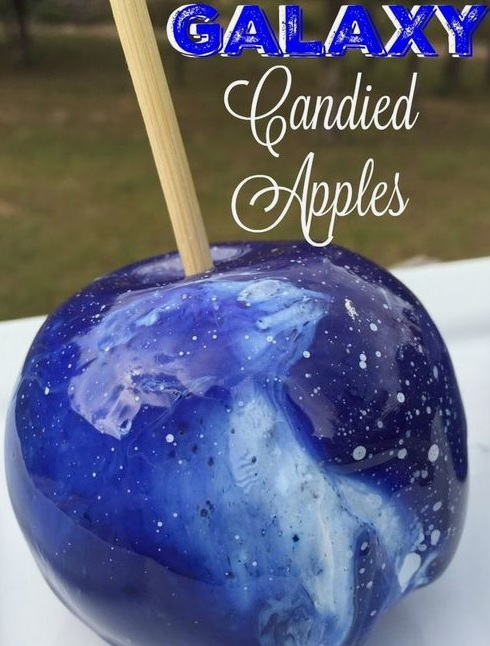 blue/star candied apple