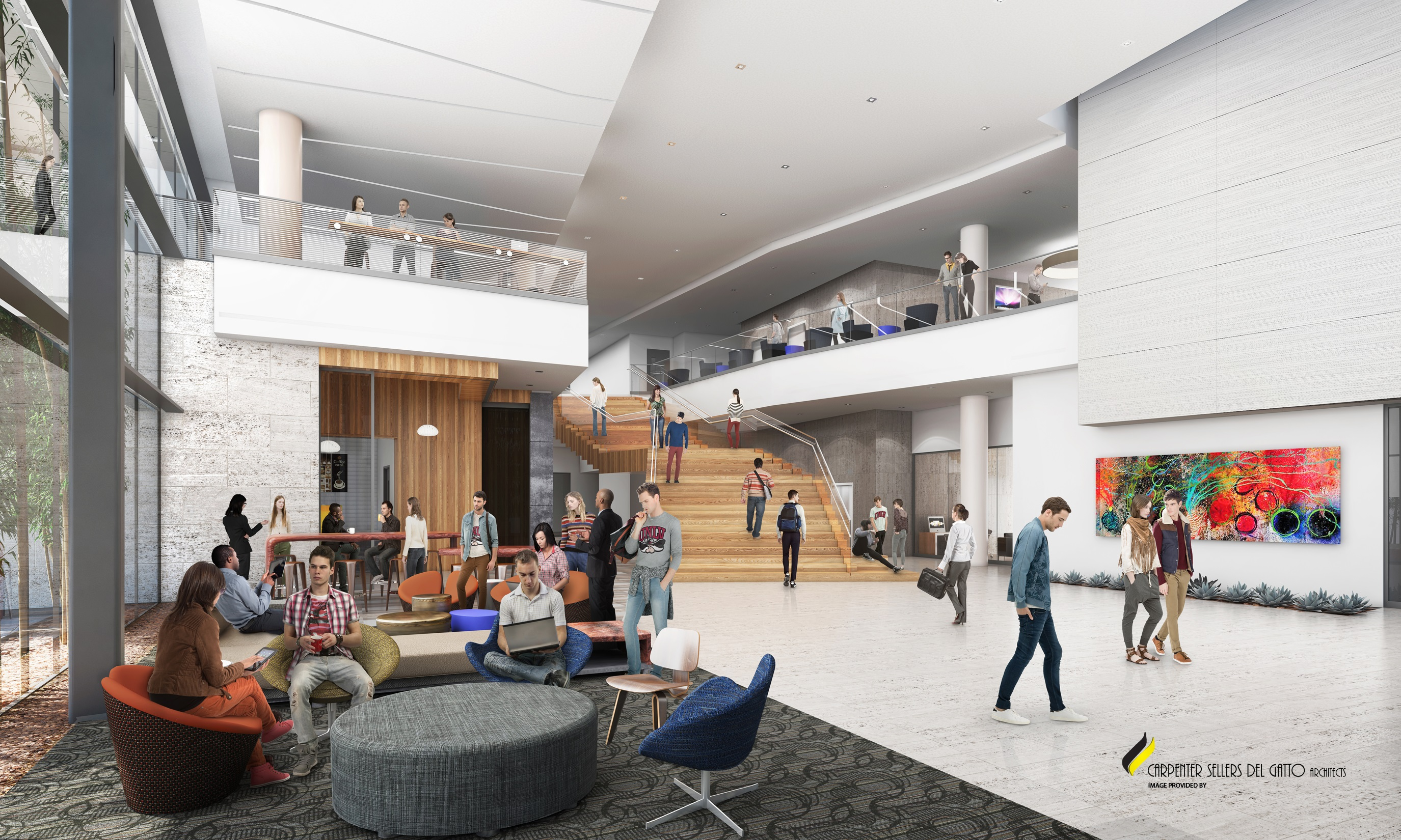 Hospitality Hall Rendering - Interior