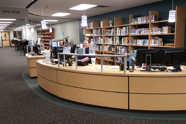image of the TCC metro library information desk
