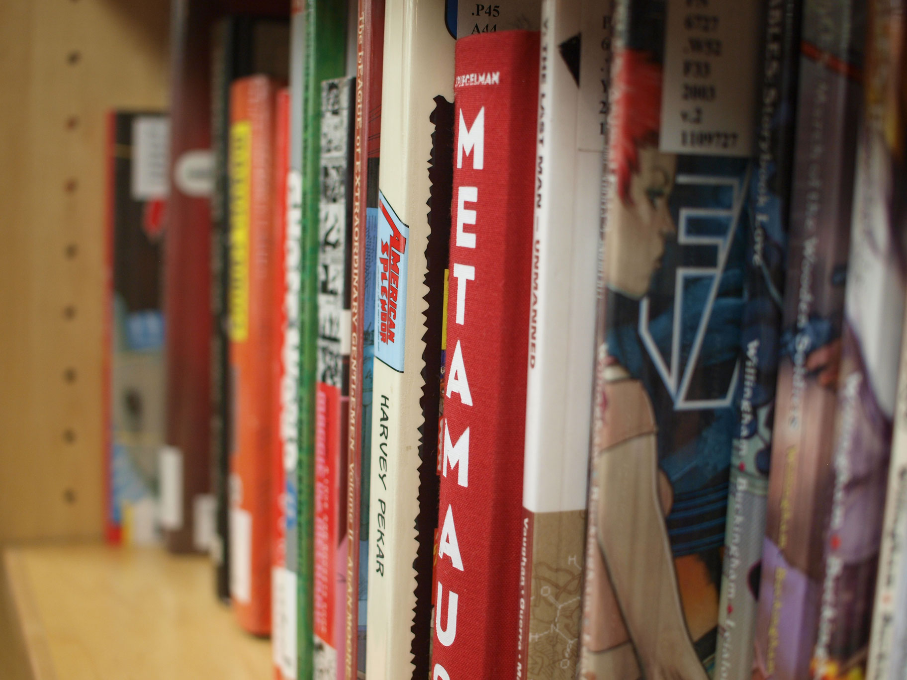 image of comic books on a shelf
