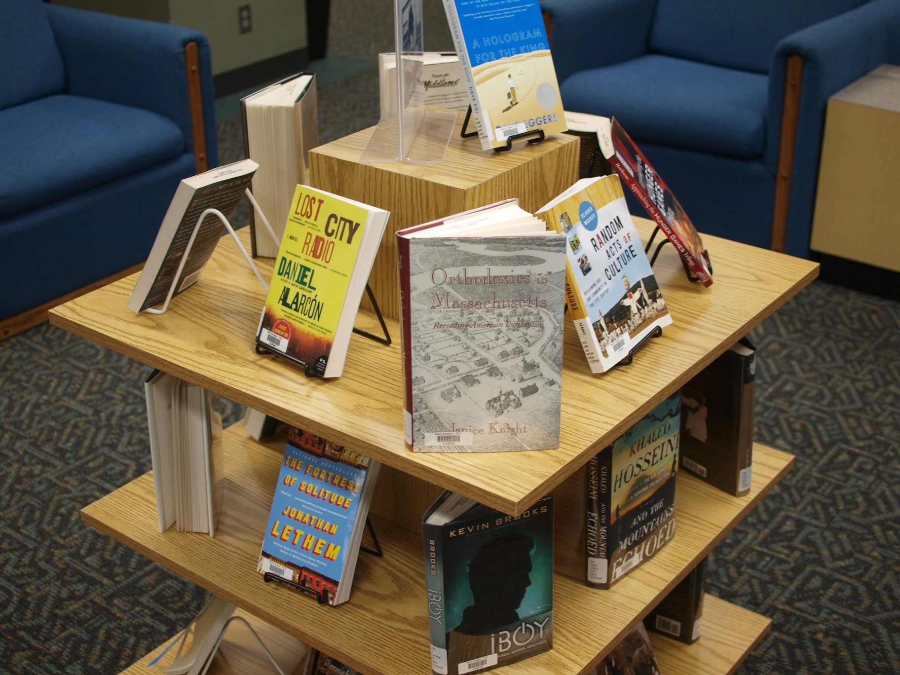 image of a book display
