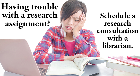 schedule a research consultation with a librarian