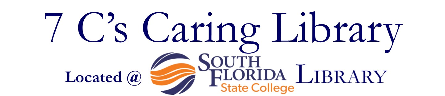 7 Cs Caring Library @South Florida State College Library Logo