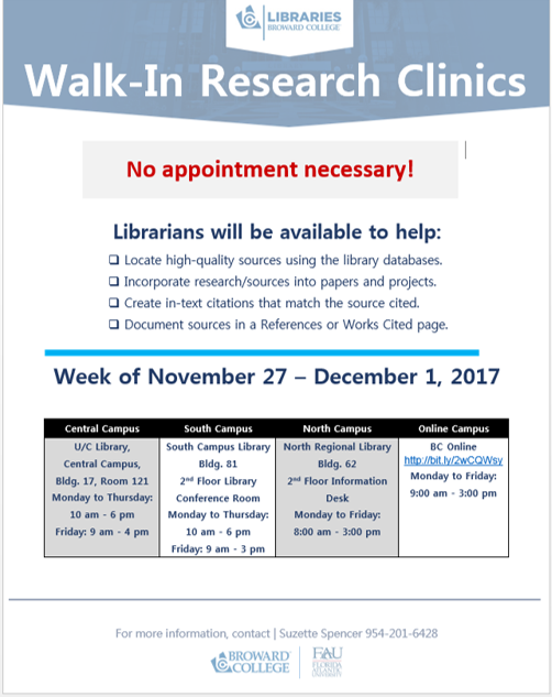 Walk-In Research Clinics Flyer