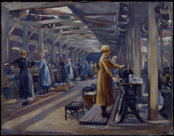 Women At Work Painting Edgar Seligman