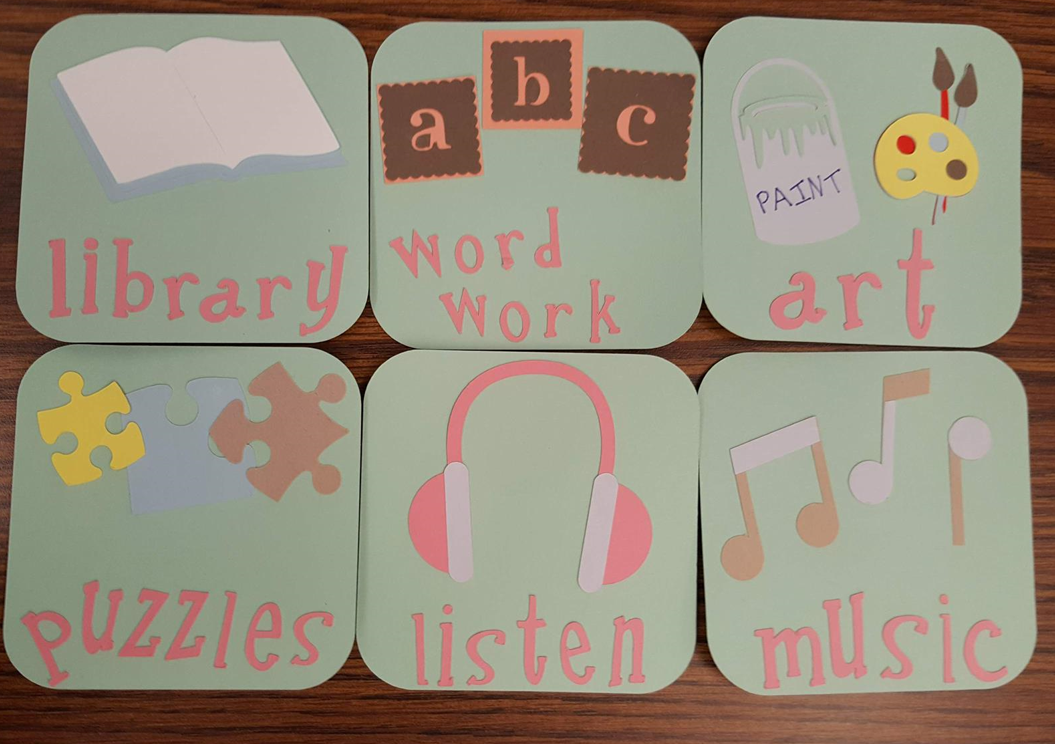 Decorative Class Activity Signs