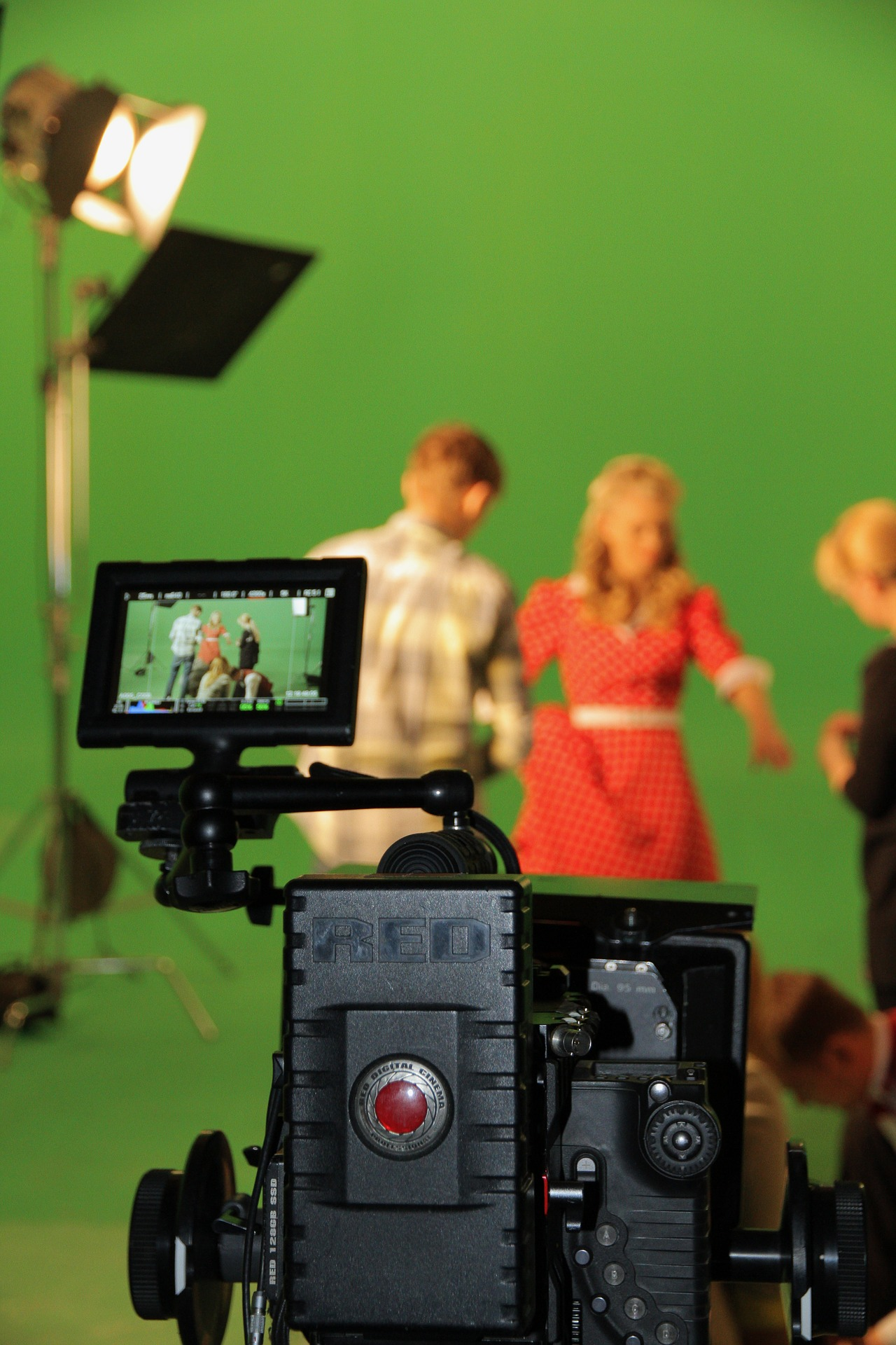 filming with a green screen