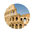 logo from the database, pic of the roman coliseum