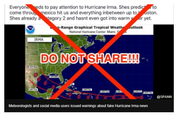 Picture of Hurricane Irma fake news