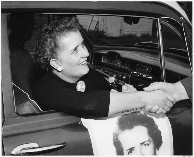 Coya Knutson, Representative Ninth Congressional District, first woman elected to Congress from Minnesota. 1955.