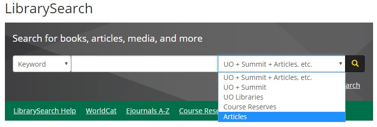 LibrarySearch for articles