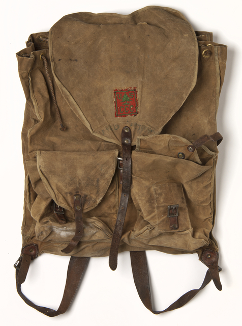 Civilian Conservation Corps knapsack used by Fred Fretheim