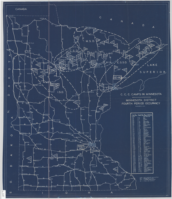 C.C.C. camps in Minnesota. [United States : s.n., 1934?]