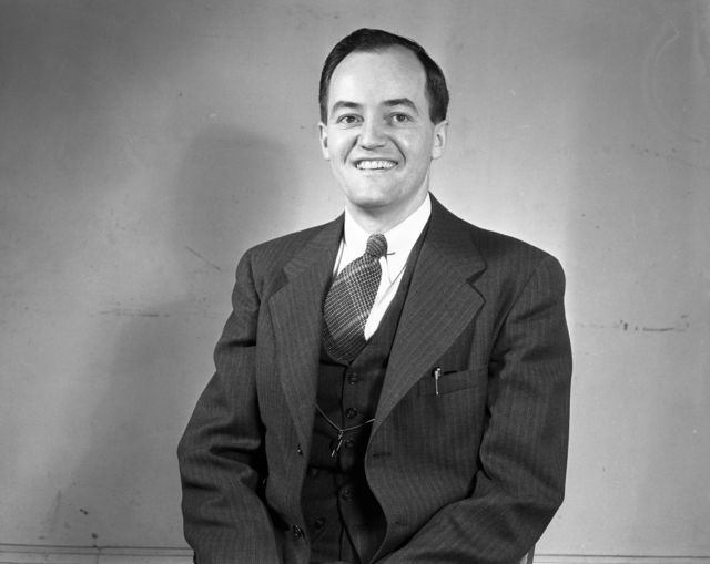 Hubert Humphrey during his run for the Mayor of Minneapolis in 1943.