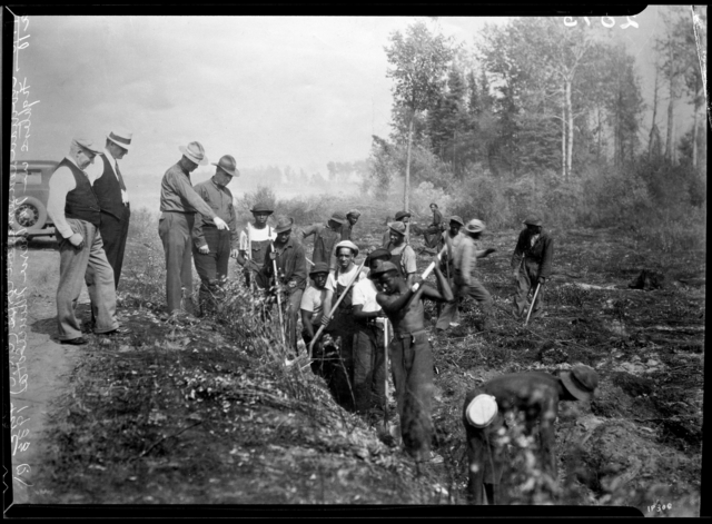 Civilian Conservation Corps fire fighters, northern Minnesota.