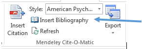 Insert Bibliography in Word for Windows