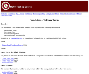 Foundations of Software Testing Web page Image