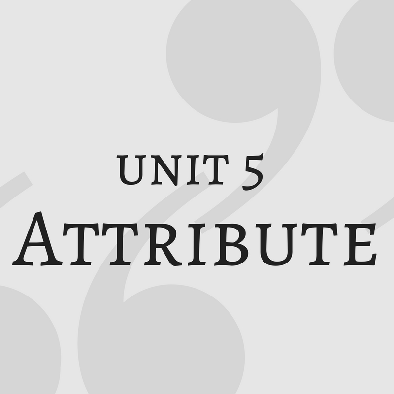 Information Literacy Tutorial Unit 5 Attribute