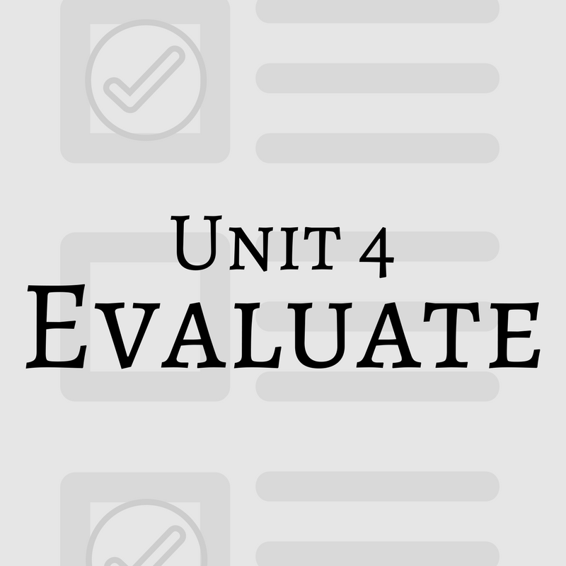 information literacy tutorial unti 4 evaluate