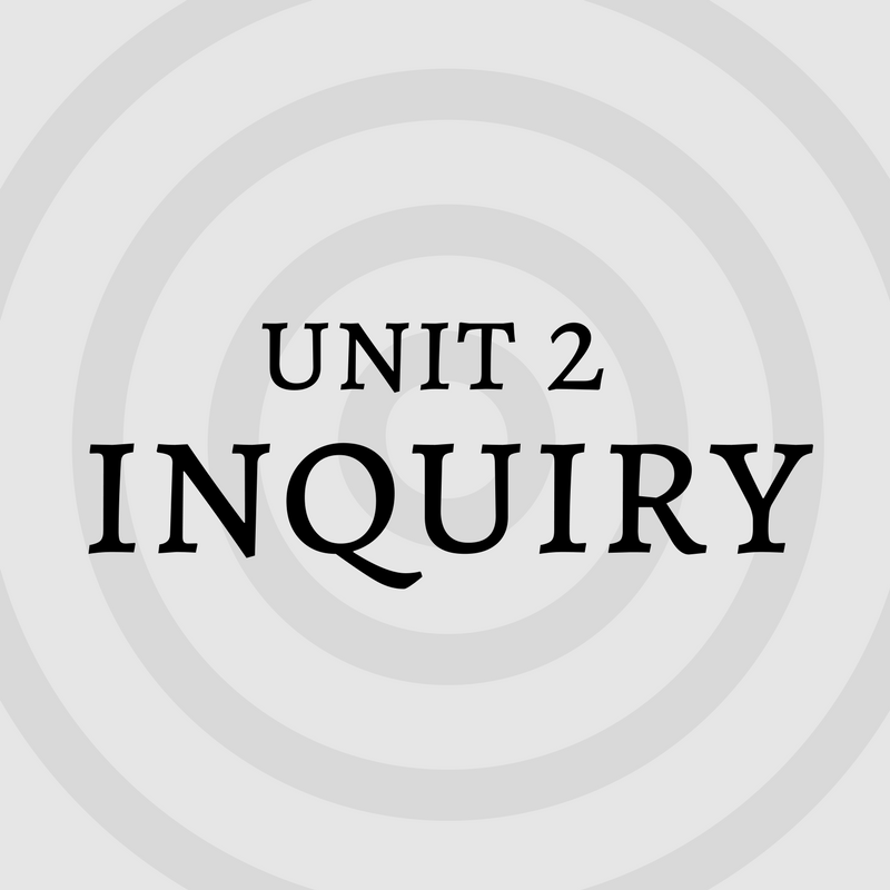 information literacay tutorial unit 2 inquiry