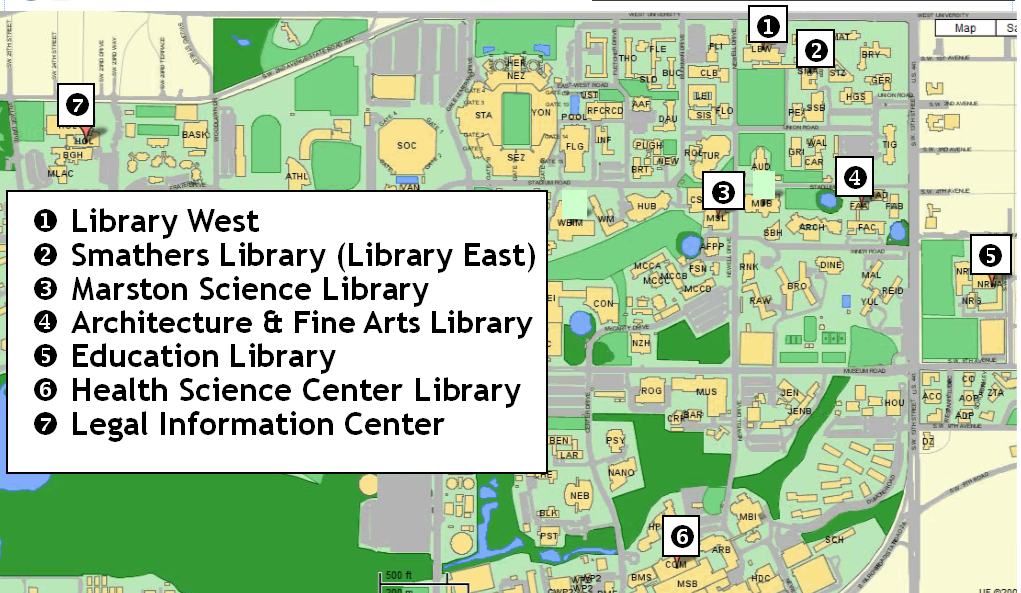 map of library branches