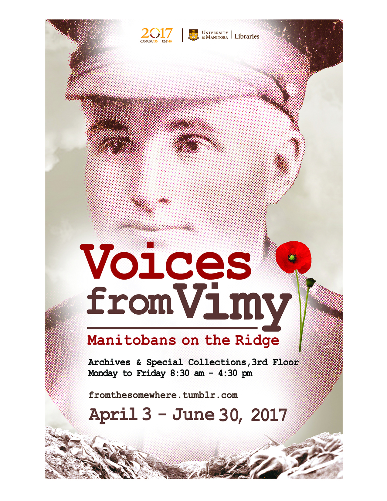 archives voices from vimy poster featuring historical photo