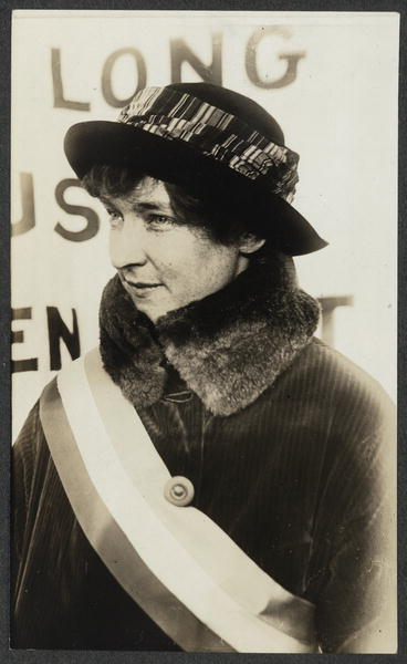 Miss Hazel Hunkins of Montana on the picket line