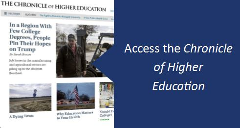 Link to the Chronicle of Higher Education subscription