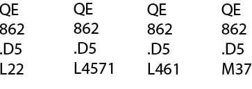 Example of call number order: QE862 .D5 L22, QE862 .D5 L4571, QE862 .D5 L461, QE862 .D5 M37