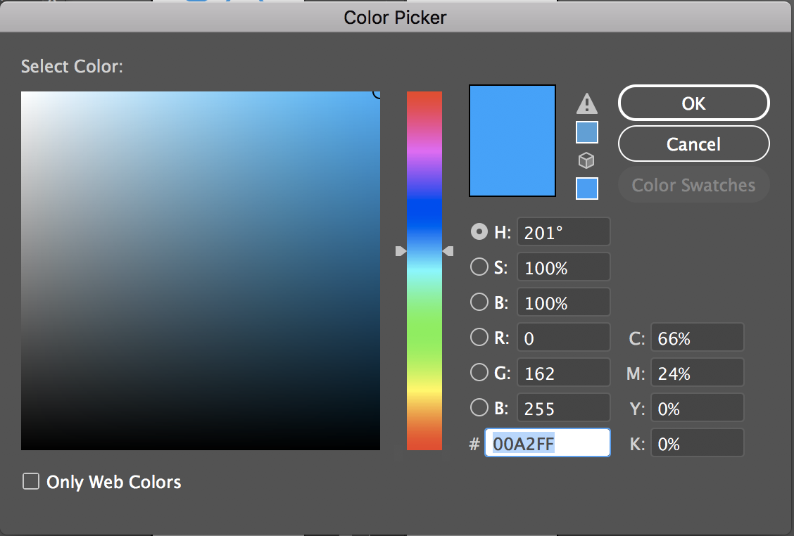 Adobe Illustrator Color Picker