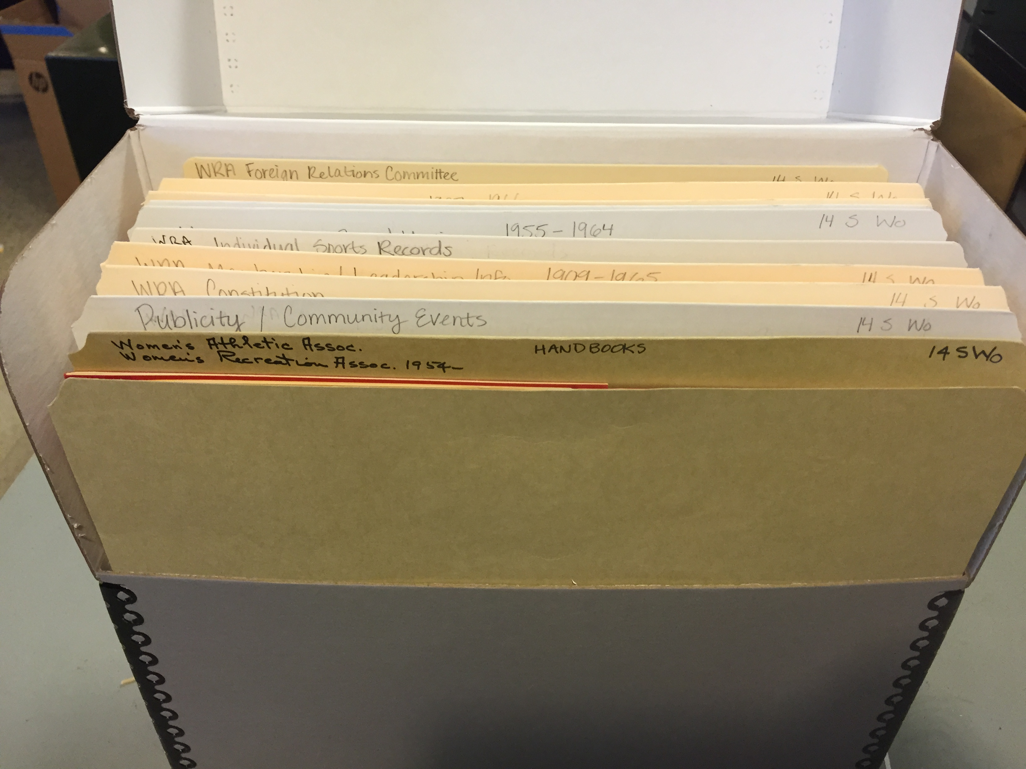picture of an archival box and folders