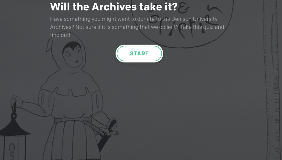 screen shot image for archives collection quiz