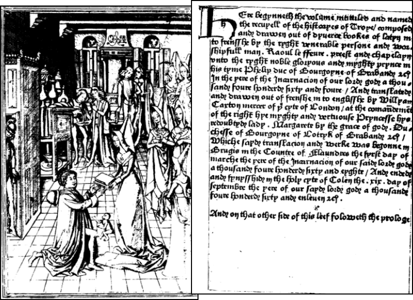 1st English printed book William Caxton