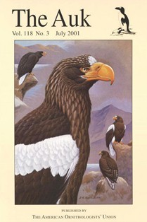 cover image from The Auk, 2001