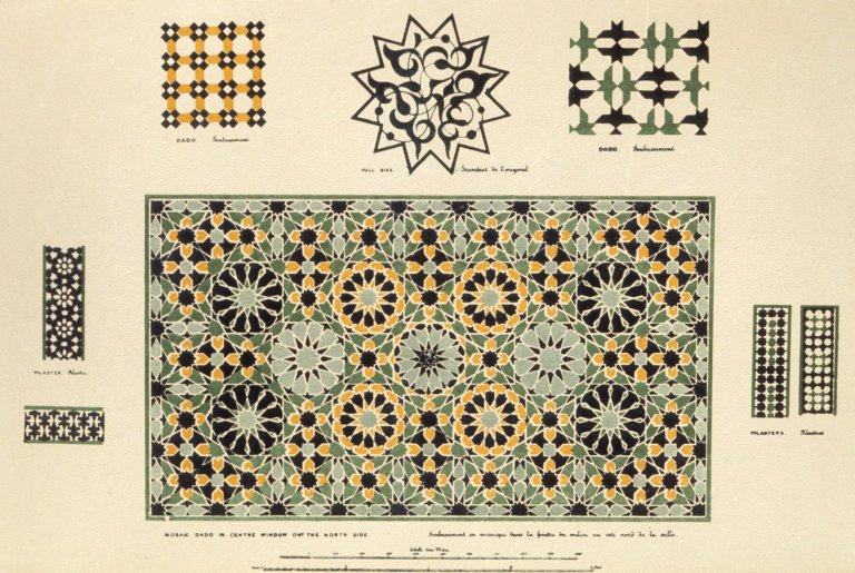 Print of Asian inspired geometric patterns