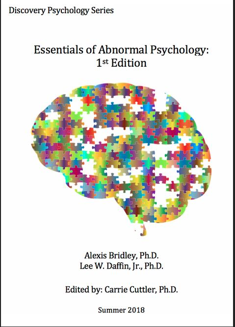 Cover to the Essentials of Abnormal Psychology text