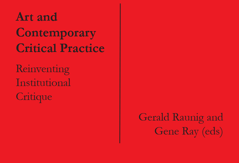 Art and Contemporary Critical Practices textbook
